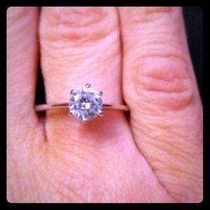 1/4 karat Genuine Swarovski Solitare Ring